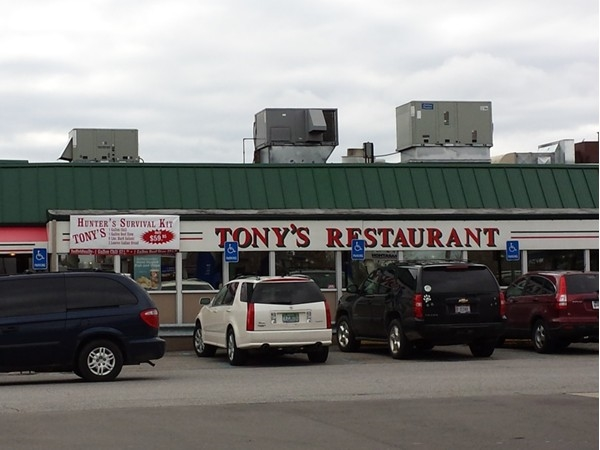 Tony's Restaurant - bacon served in one pound increments