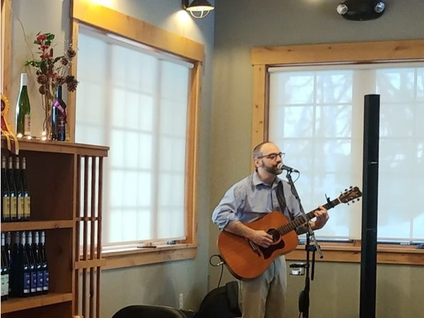 A delightful Friday evening with Andre Villoch at Boathouse Vineyards