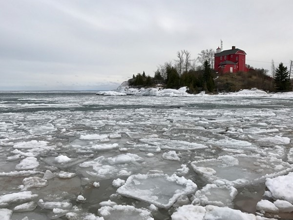Pancake ice on Lake Superior at McCarty's Cove