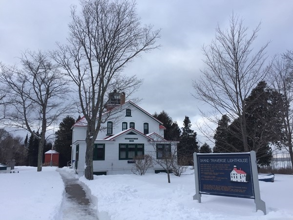 Tour the Grand Traverse Lighthouse and xc ski and snowshoe the trails at Leelanau State Park