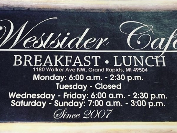 Check out the Westsider Cafe! Features great skillets, authentic Polish and Cuban dishes