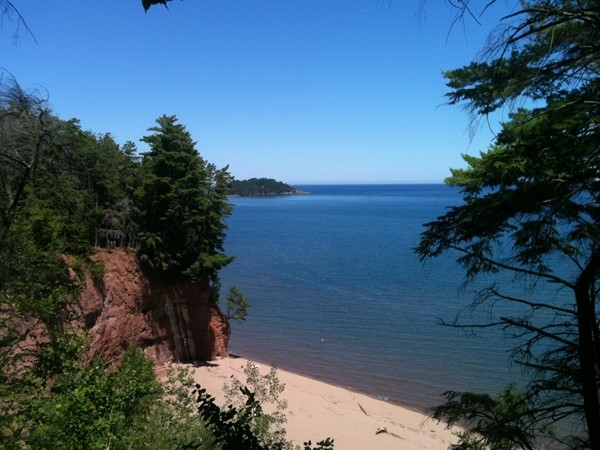 Hidden Beach is such a cool spot within minutes of downtown Marquette