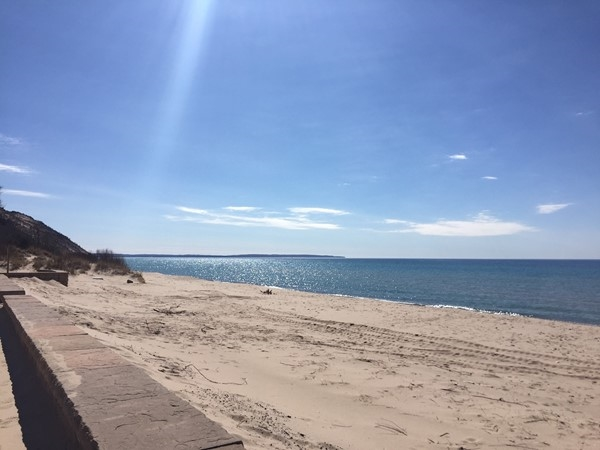 Empire Beach. An awesome place to appreciate Lake Michigan on a sunny March day