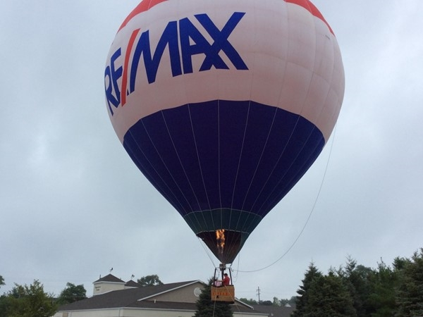 Up, up and away! RE/MAX balloon visits St. Joseph