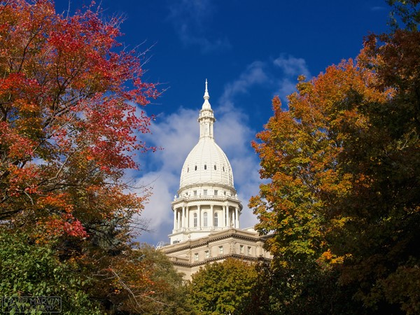Lansing Capital in the fall