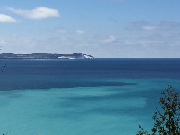 Appreciating the view from Whaleback Natural Area. Thank you to the Leelanau Conservancy