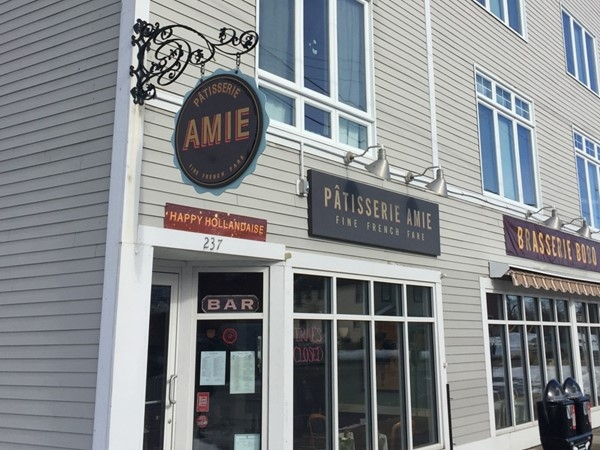Patisserie Amie, featuring a French Bistro brunch of gourmet omelettes, crepes, bistro sandwiches