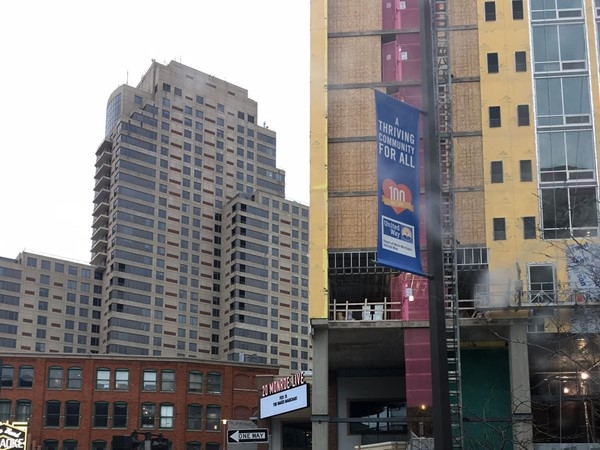 Check out the new apartments and IMAX Theater going in downtown Grand Rapids by the BOB