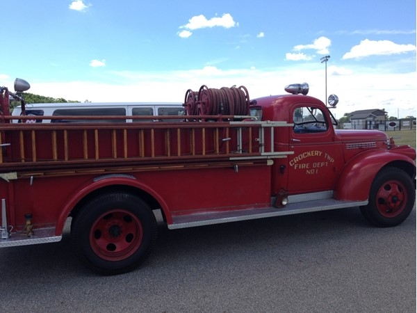 1946 fire truck at the Caedonia Parade