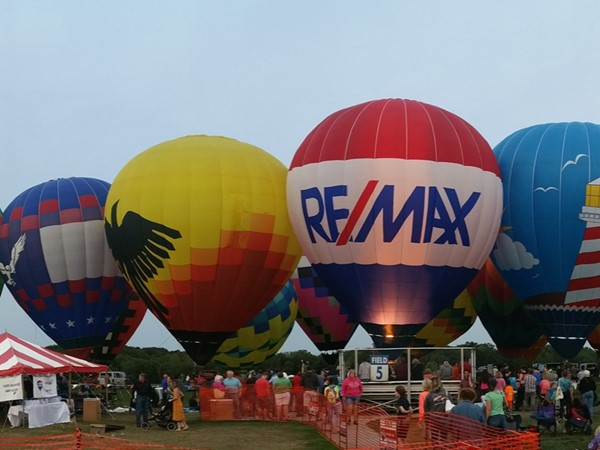 Greater Lansing Balloon Festival, last weekend of August at Hope Sports Complex