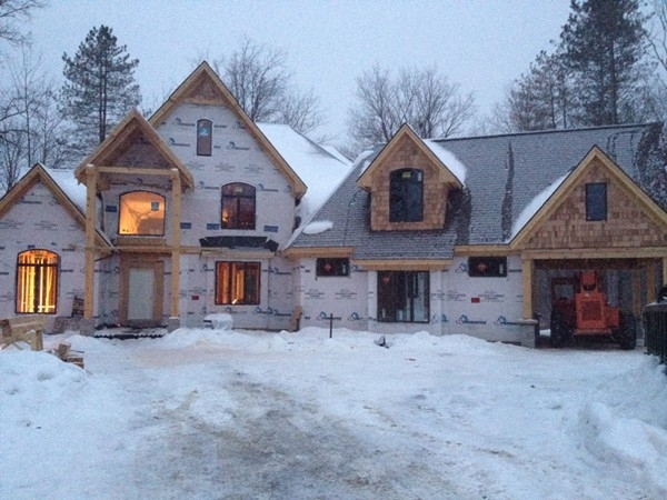 Beautiful custom construction being build today in Pine Creek Ridge