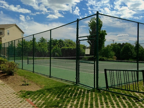 One amenity in Barclay Park is the private tennis court