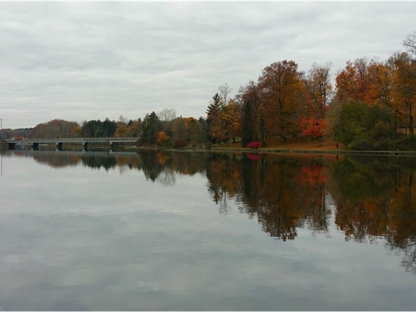 Even on a gloomy day, a walk by the Grand River can be pretty and soothing