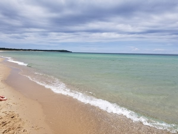 Nice May walk on Platte Bay, Lake Michigan