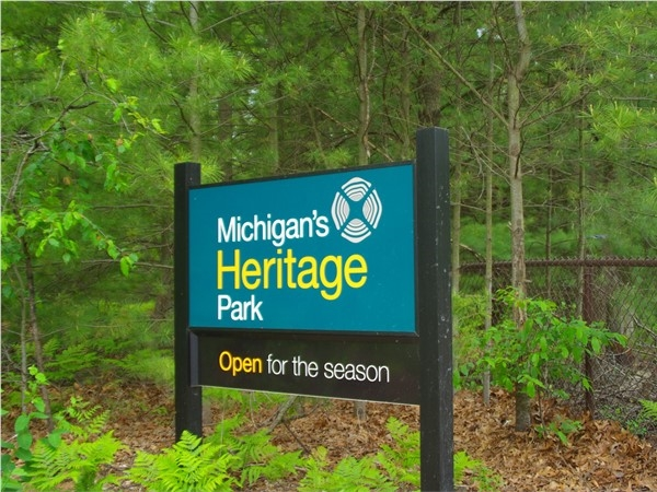 Michigan's Heritage Park entrance