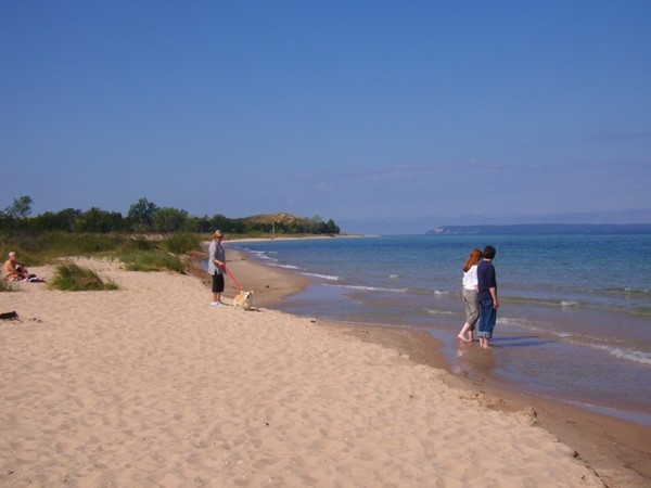 Lake Michigan Beach at Glen Arbor - South Manitou Island in the distance