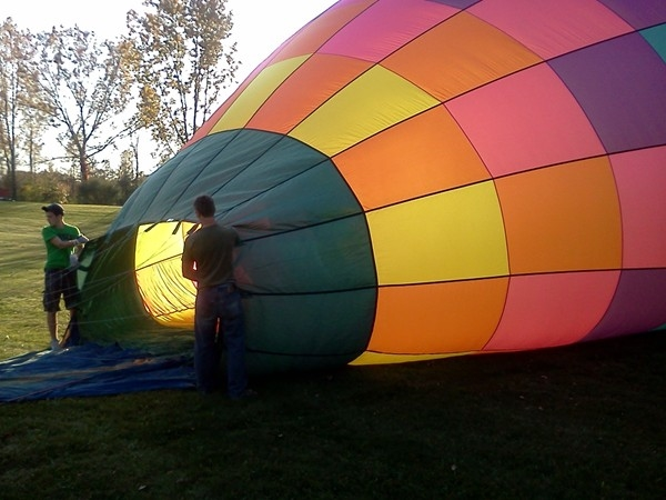 Whether they are on the ground or in the air, hot air balloons are always around in Howell