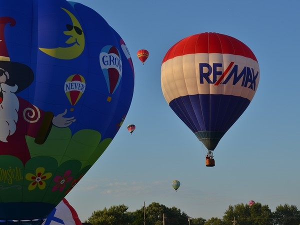 Balloon Festival at Hudsonville Fairgrounds put on by RE/MAX. Proceeds to Children's Miracle Network