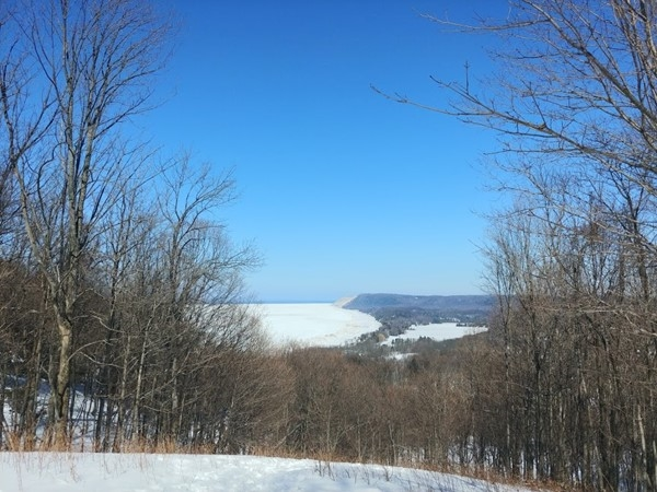 Love this March view from the Empire Bluffs trail