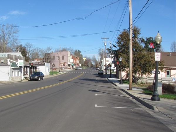 Sunny view of Downtown Dimondale