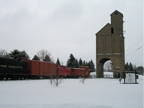 Historic Coal Tipple in downtown Grand Haven