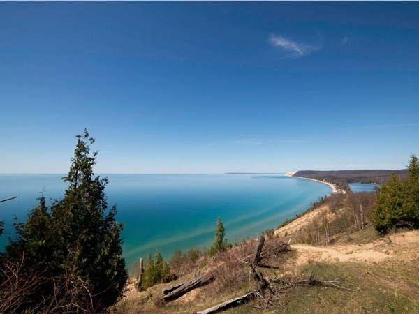 It's worth every step of the hike to reach this breathtaking view over Empire Bluffs