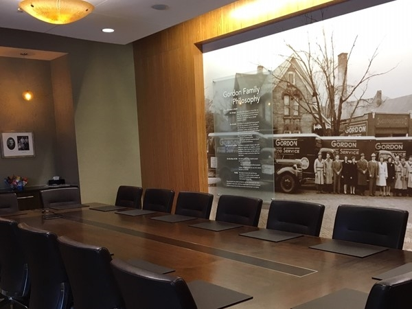 Are you lucky enough to sit at this Gordon Food Service boardroom table in their Heritage Room?