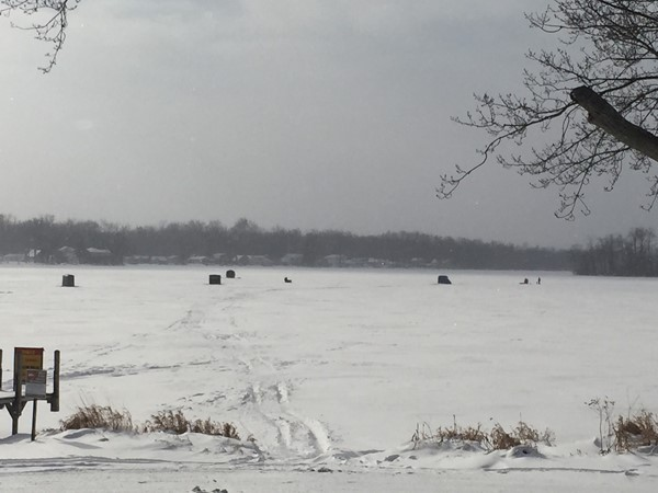 Ice Fishing at Reeds Lake