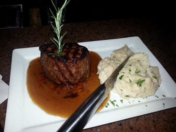 Best steaks in town at Red Wood Steak House