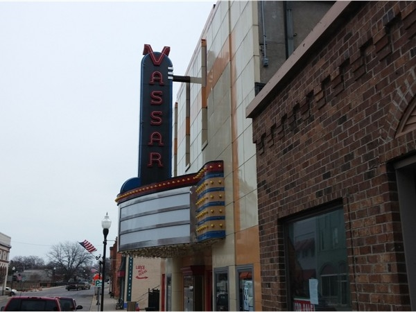 The Vassar Theater in downtown Vassar