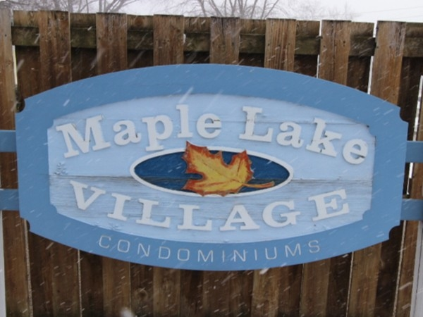 Maple Lake Village, north entry Zeeland MI