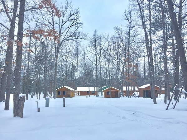 Timber Ridge campsites/cabins are surrounded by ski trails this winter, but will be busy by spring