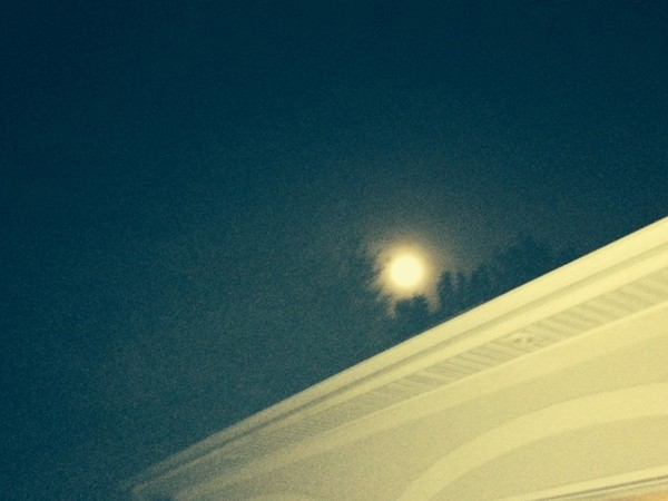 Super Moon on a beautiful night in September