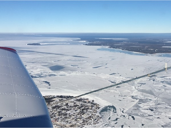 The beauty of the Straits of Mackinac on a -20F morning