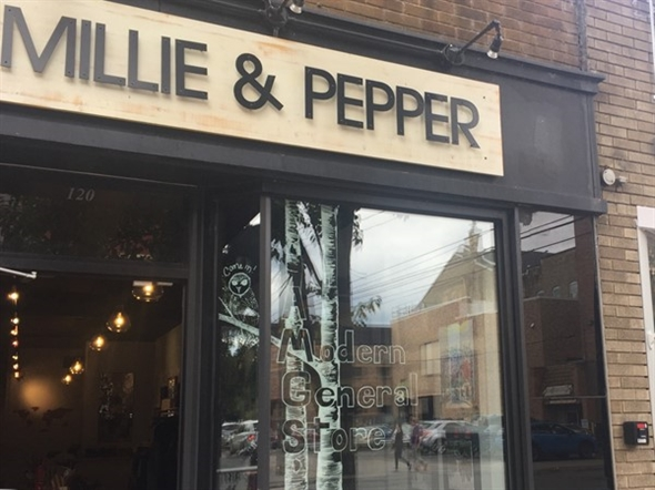 Just love Millie & Pepper for up north lifestyle everything and super impressed with the window art