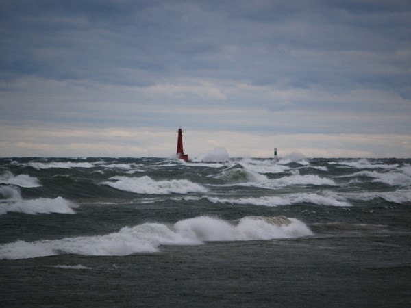 Growing up by the Muskegon lakeshore, I have never seen anything like these amazing waves