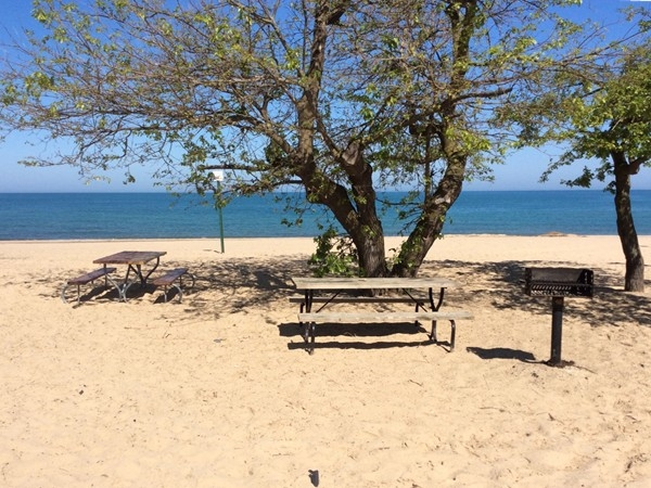 One of many little picnic areas at Weko Beach. Lunch with a view