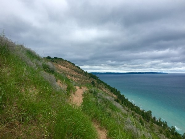 Head south along the trail from the Empire Bluffs Overlook for amazing views and dune explorations