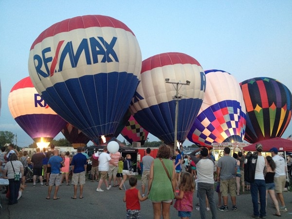 RE/MAX of Grand Rapids Ballon Festival! Balloons are glowing