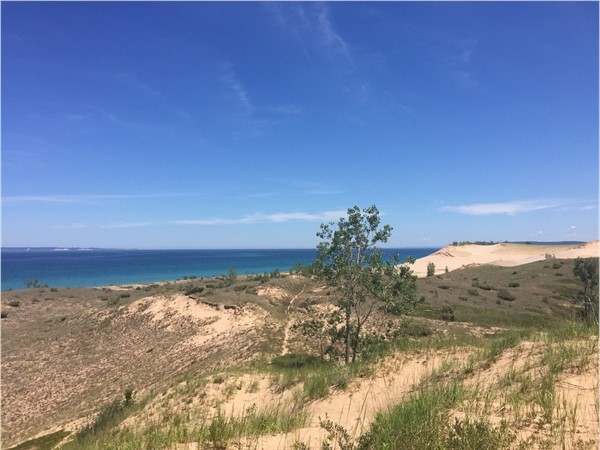 Bald eagles, deer, the Manitou Islands. What's not to love about Sleeping Bear Point views