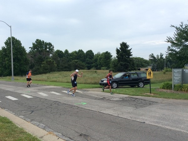 Ironman runners ran through Benton Harbor and around the Whirlpool Complex