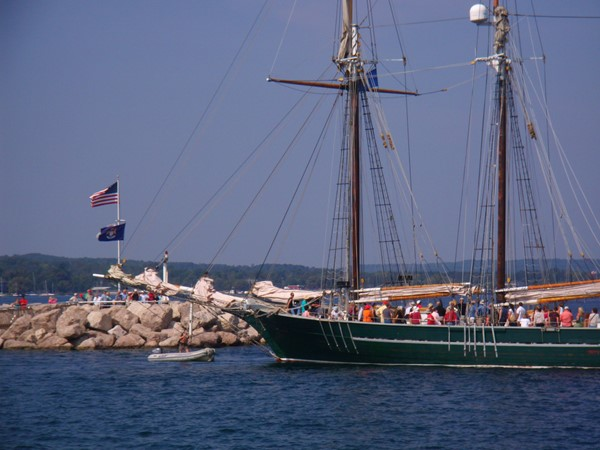 Tall ship on West Bay, Traverse City