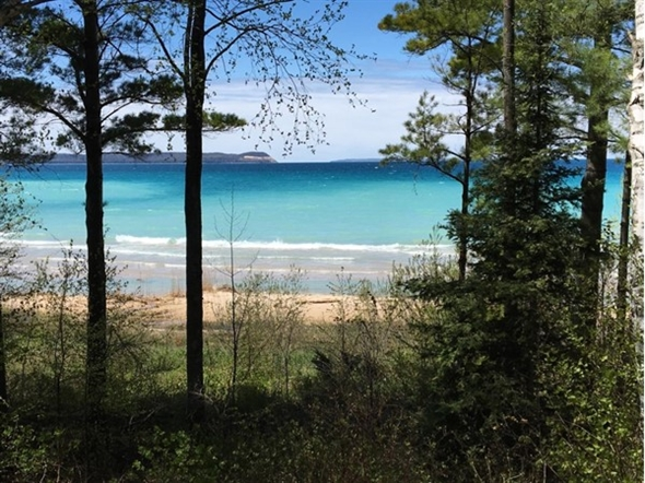 View of Manitou Island from Leland