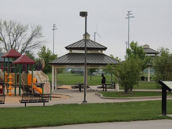 Helder Park...the neighboring community playground, pavilions and restrooms