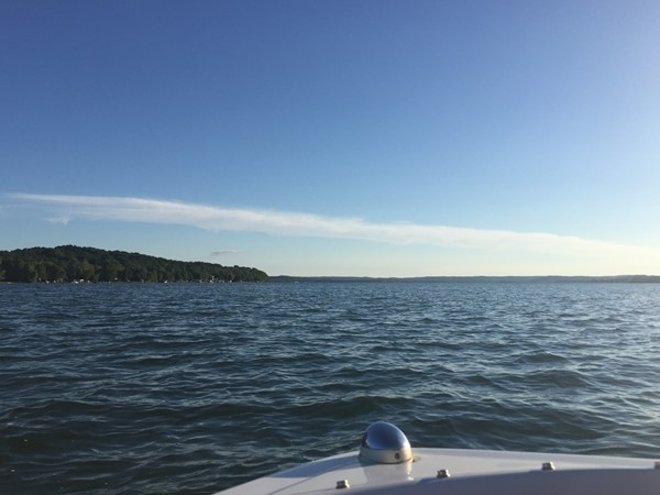 Enjoy Lake Leelanau. Plenty of space on the water for boating and the emerging rowing community