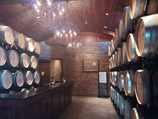 Brys Estate Barrel Room...classically gorgeous. Imagine yourself tasting awesome wines here
