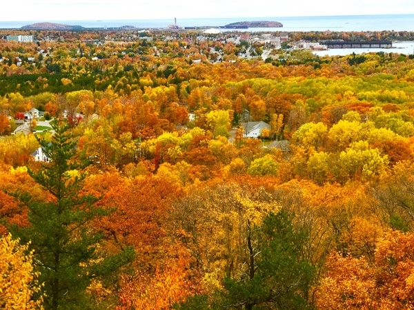 Fall colors innundate the landscape in Marquette