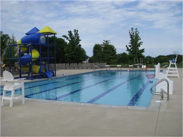 Two pools to choose from for adults and kids. Swim laps, practice diving, splash on the water slide