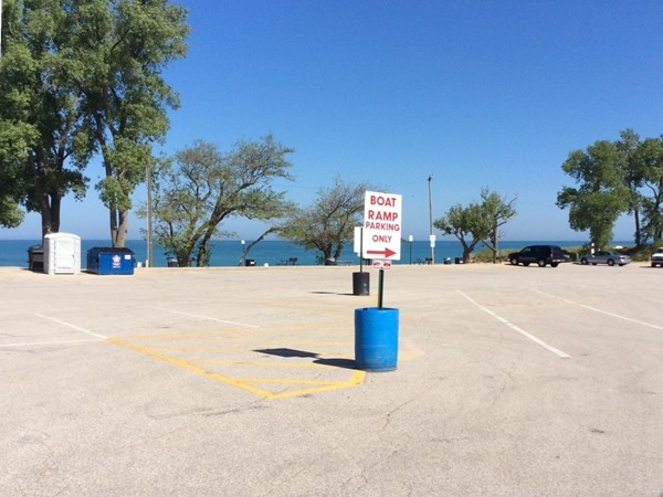 Boat launch parking lot at Weko Beach