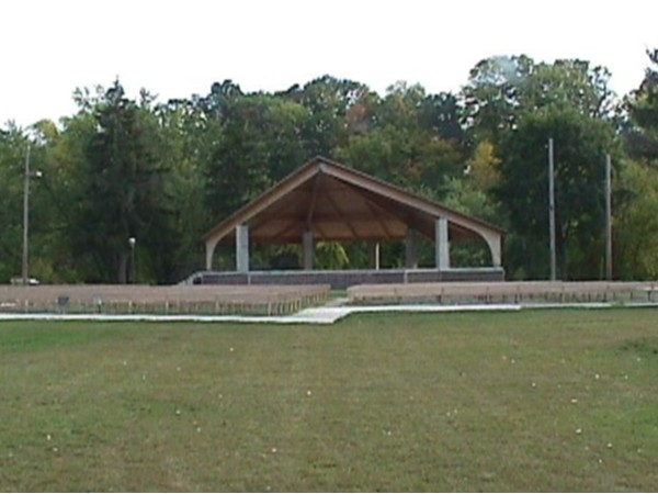 Band stand for music in the park. You can rent spaces for those family gatherings.